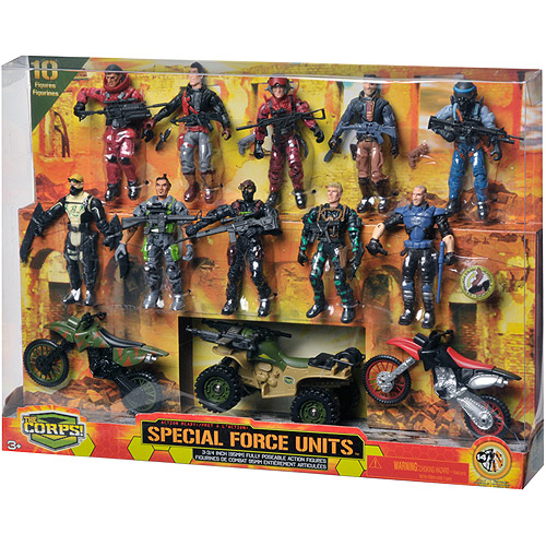 The Corps Special Forces 10 Action Figures and Vehicle Deluxe Set by Lanard
