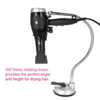 WALFRONT 360° Freely Rotation Hair Dryer Holder Hands Free Removable Suction Cup Stand, Hair Dryer Wall Holder, Blow Dryer Stand