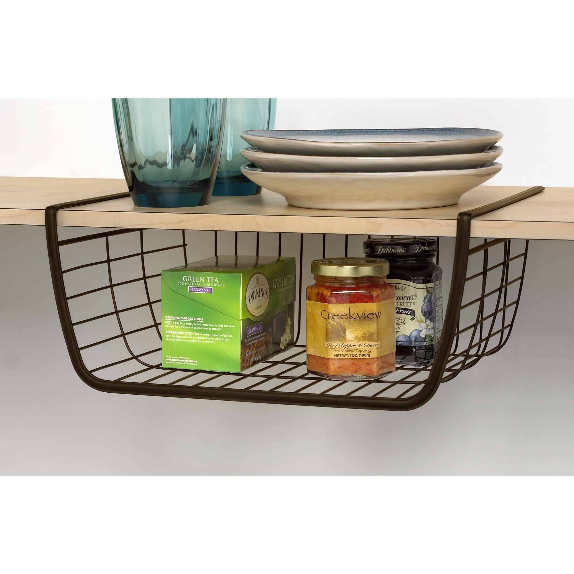 Spectrum Ashley Over-The-Shelf Basket, Bronze