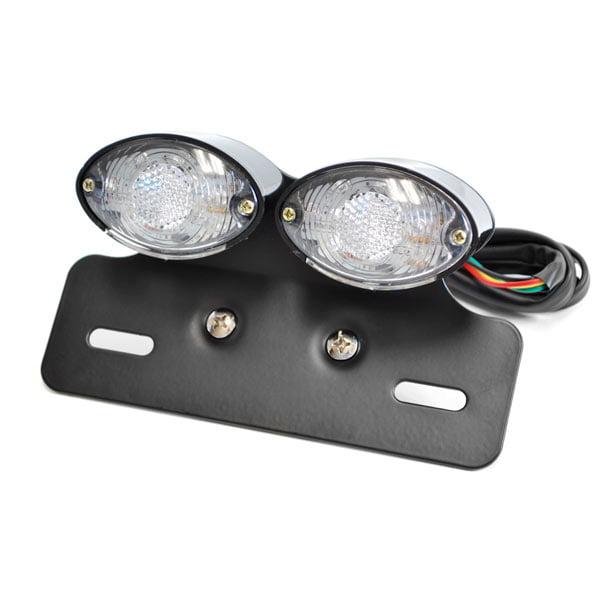 WHITE LED TAG LIGHT FENDER ELIMINATOR LED LICENSE PLATE LIGHTS MOTORCYCLE BIKE //