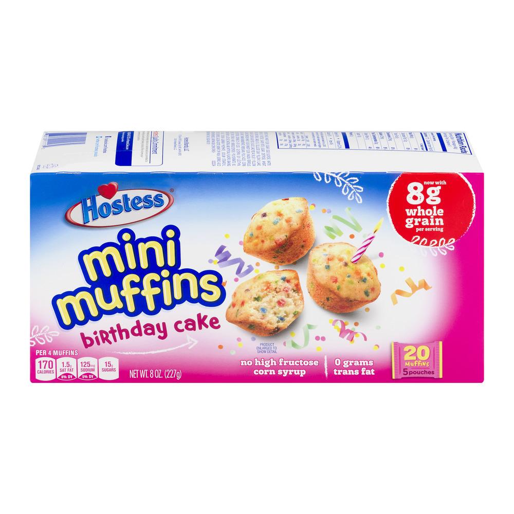 Hostess Birthday Cake Mini Cakes 20 Ct 8 Oz