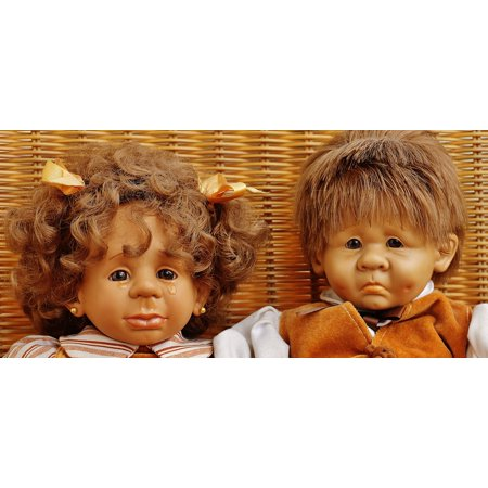 Canvas Print Tears Funny Toys Sad Doll Girl Boy Children Stretched Canvas 10 x