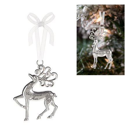 Prancing Reindeer Ornament: Very Special Aunt - By Ganz