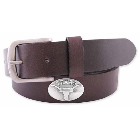 Texas Concho Brown Leather Belt