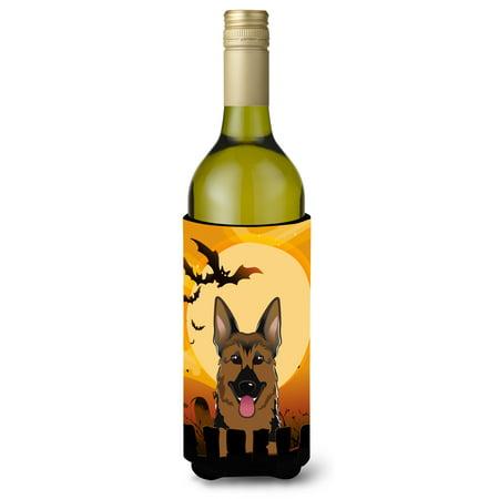Halloween German Shepherd Wine Bottle Beverage Insulator Hugger BB1769LITERK (Wine Bottle Halloween Crafts)