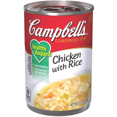 (Campbell's Condensed Healthy Request Chicken with Rice Soup, 10.5 oz.)