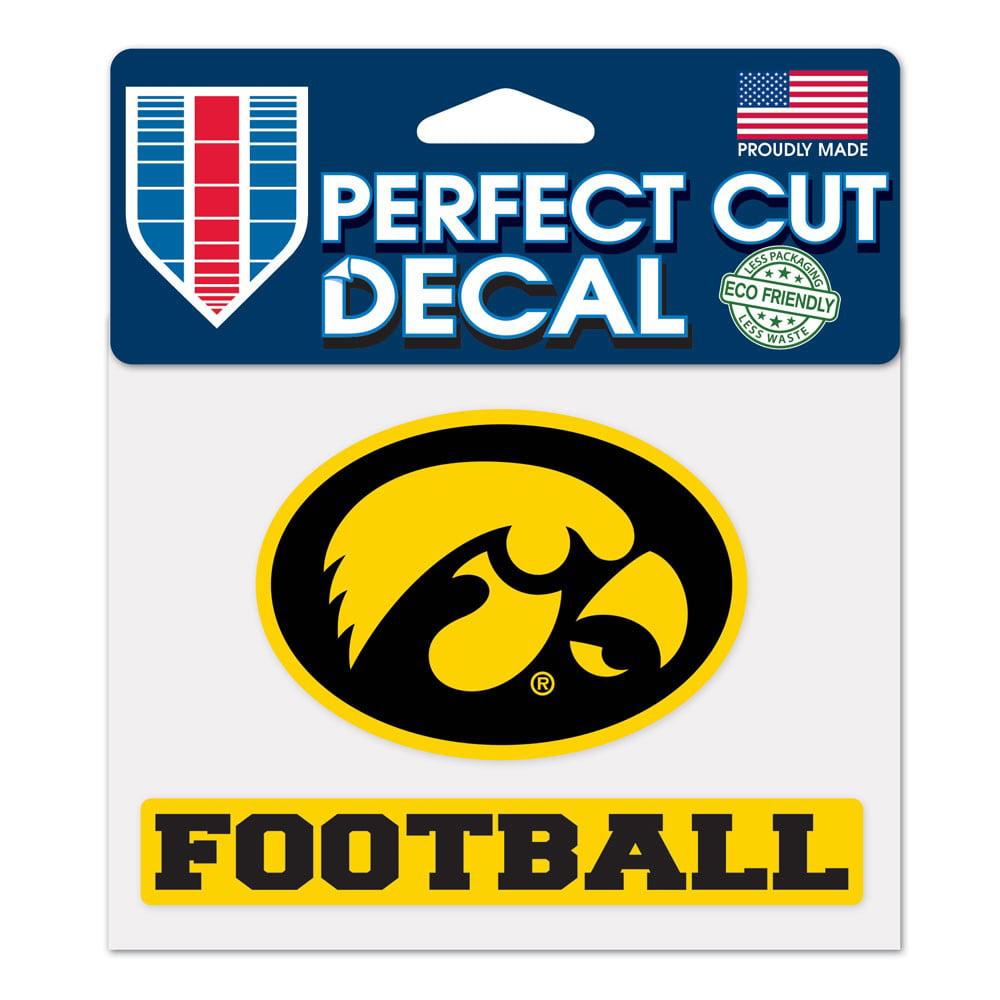 Iowa Hawkeyes Official NCAA 4 inch x 5 inch  Die Cut Car Decal by WinCraft