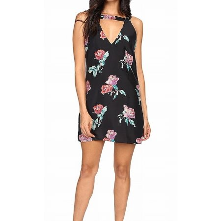 Dress Black Shift Floral Print Silk V-neck $135 0 Retro Print Silk Shift Dress