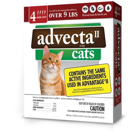 Image of Advecta II Flea and Tick Treatment for Large Cat, 4 Doses