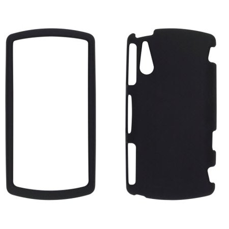 Soft Touch Snap-On Case for Sony Ericsson Xperia Play 4G - Black (Sony Ericsson Touch)