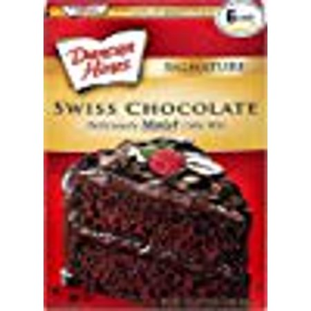 Duncan Hines Signature Cake Mix, Swiss Chocolate, 16.5 Ounce (Pack of