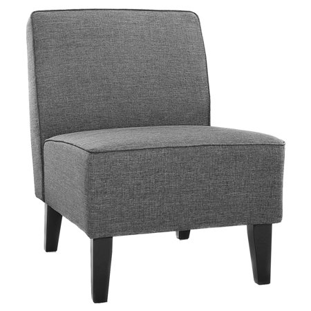 Costway Accent Chair Armless Contemporary Dining Chair Living Room Furniture Gray