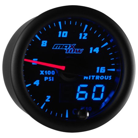 MaxTow Black and Blue 1,600 PSI Nitrous Pressure NOS