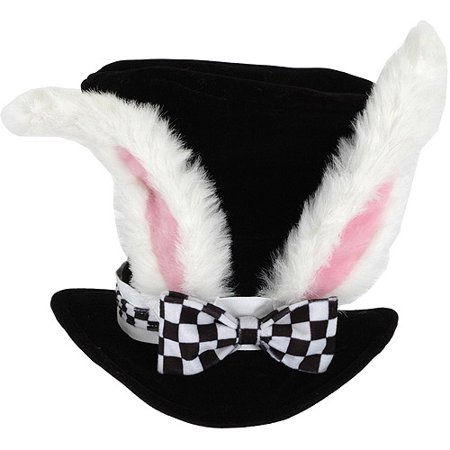 Image of Alice In Wonderland White Rabbit Topper Costume Hat Adult