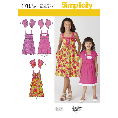 Simplicity Children's and Girls' Dress and Jacket (7, 8, 10, 12, 14)