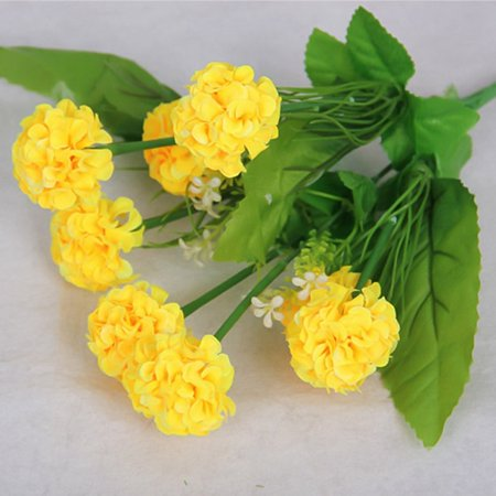 KABOER 8 Heads Artificial Fake Hydrangea Bouquet Party Wedding Bridal Silk Flowers