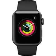 Refurbished Apple Watch Gen 3 Series 3 38mm Space Gray Aluminum - Black Sport Band MTF02CL/A