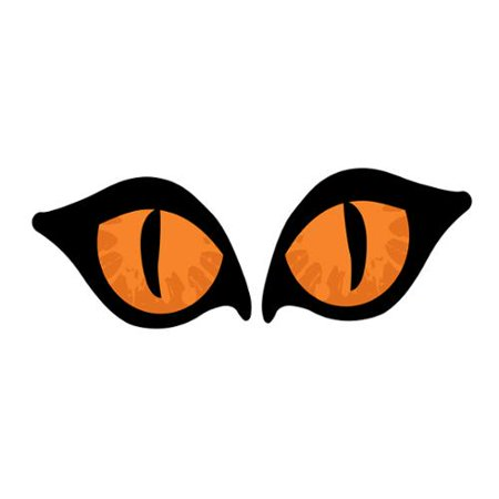 2 piece lighted orange cat eyes halloween window silhouette decoration set 28