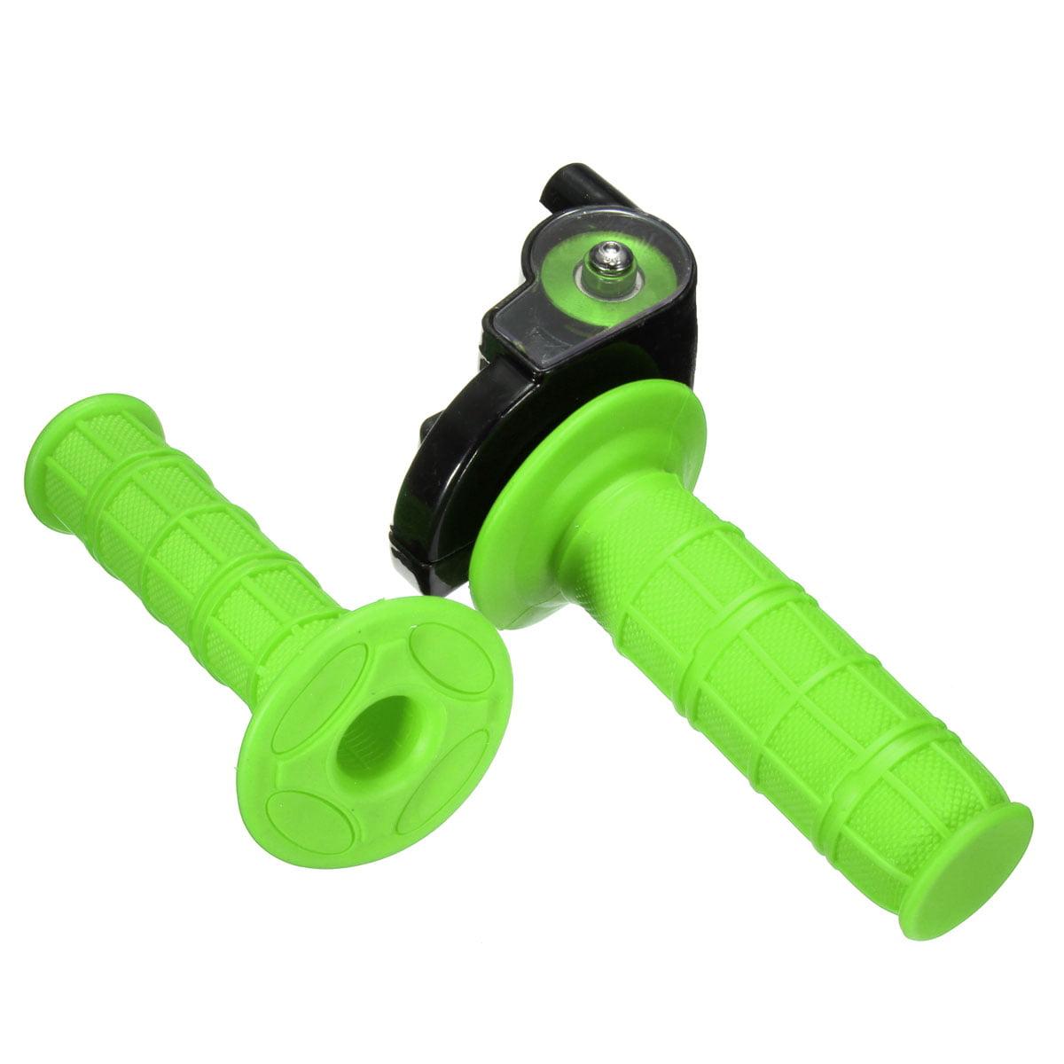 "MATCC Quick Action Throttle Grip Twist Cable For 90 110 125cc ATV Pit Dirt Bike 22mm handgrips 7/8"" Handlebar Green"