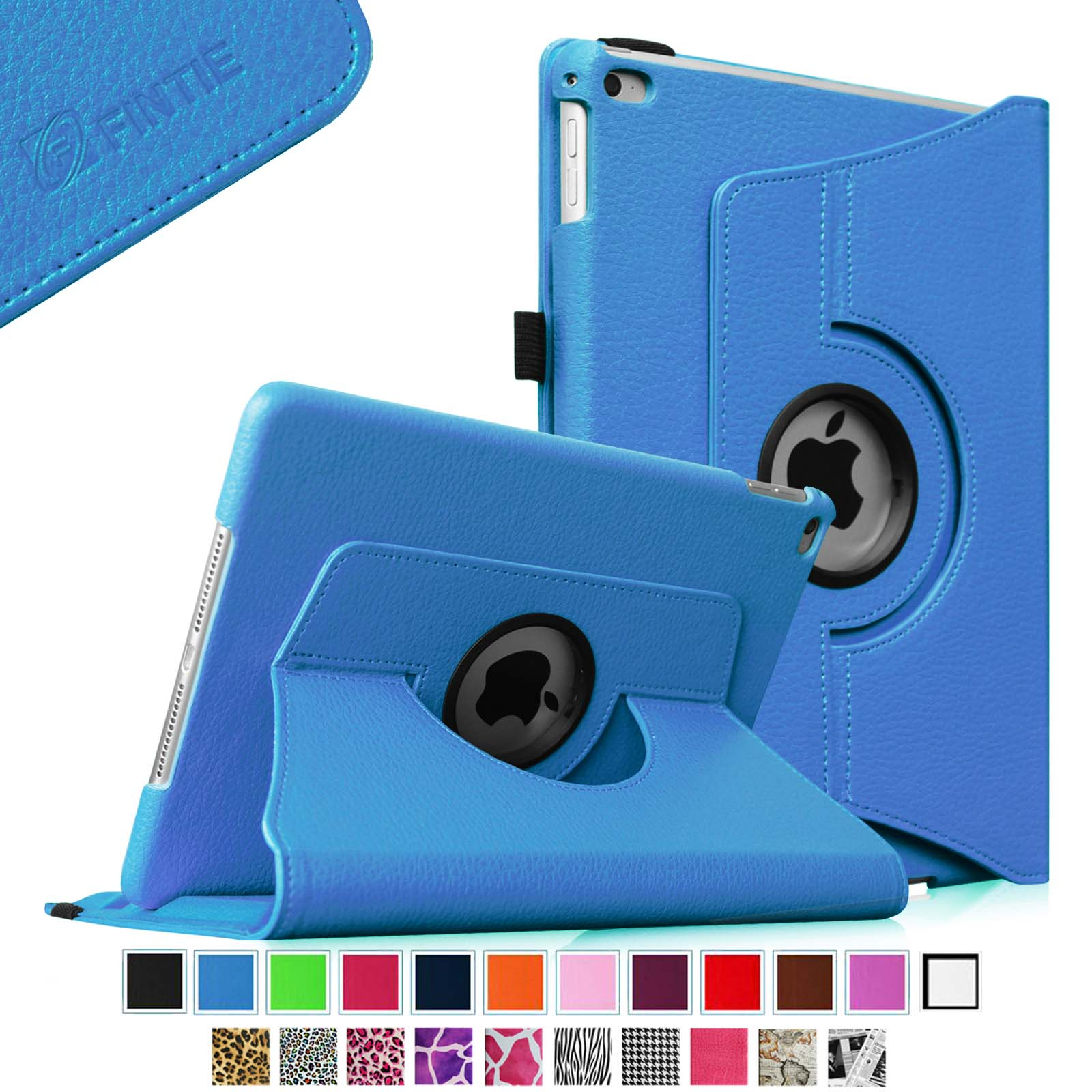 Fintie iPad Air 2 Case - 360 Degree Rotating Stand Cover with Auto Sleep / Wake Feature, Blue