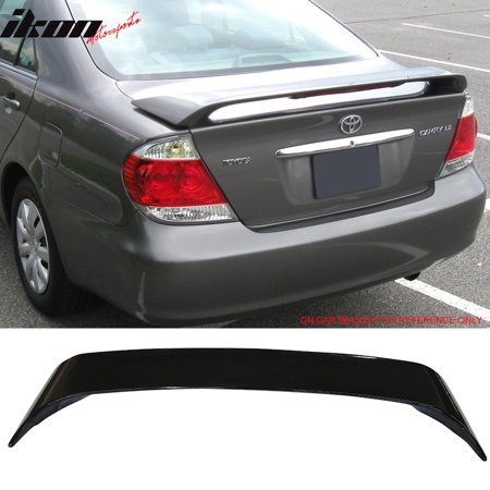 Fits 02-06 Toyota Camry Sedan OE Factory Style Trunk Spoiler Painted #202 Black