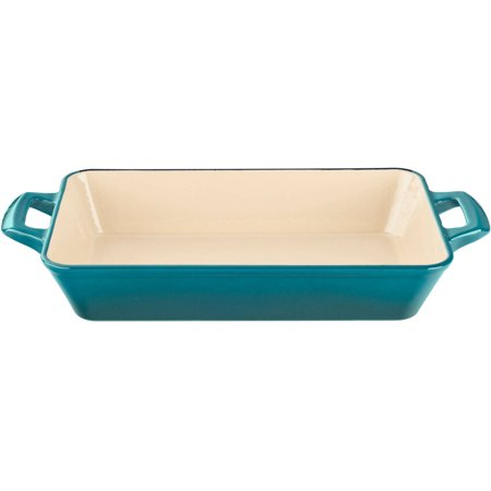 La Cuisine Deep Cast Iron Roasting Pan With Enamel Finish