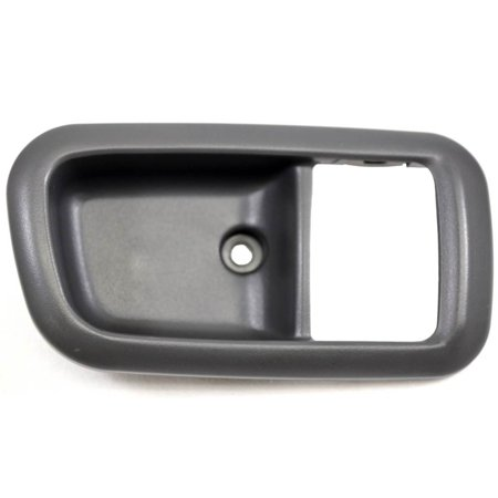 PT Auto Warehouse TO-2950F-2RR - Inner Interior Inside Door Handle Trim/Bezel, Dark Gray - Extended Cab Only - Passenger Side (Only Extended Cab)