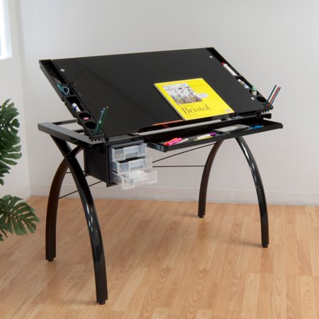 Studio Designs Futura Drafting Table With Gl Top