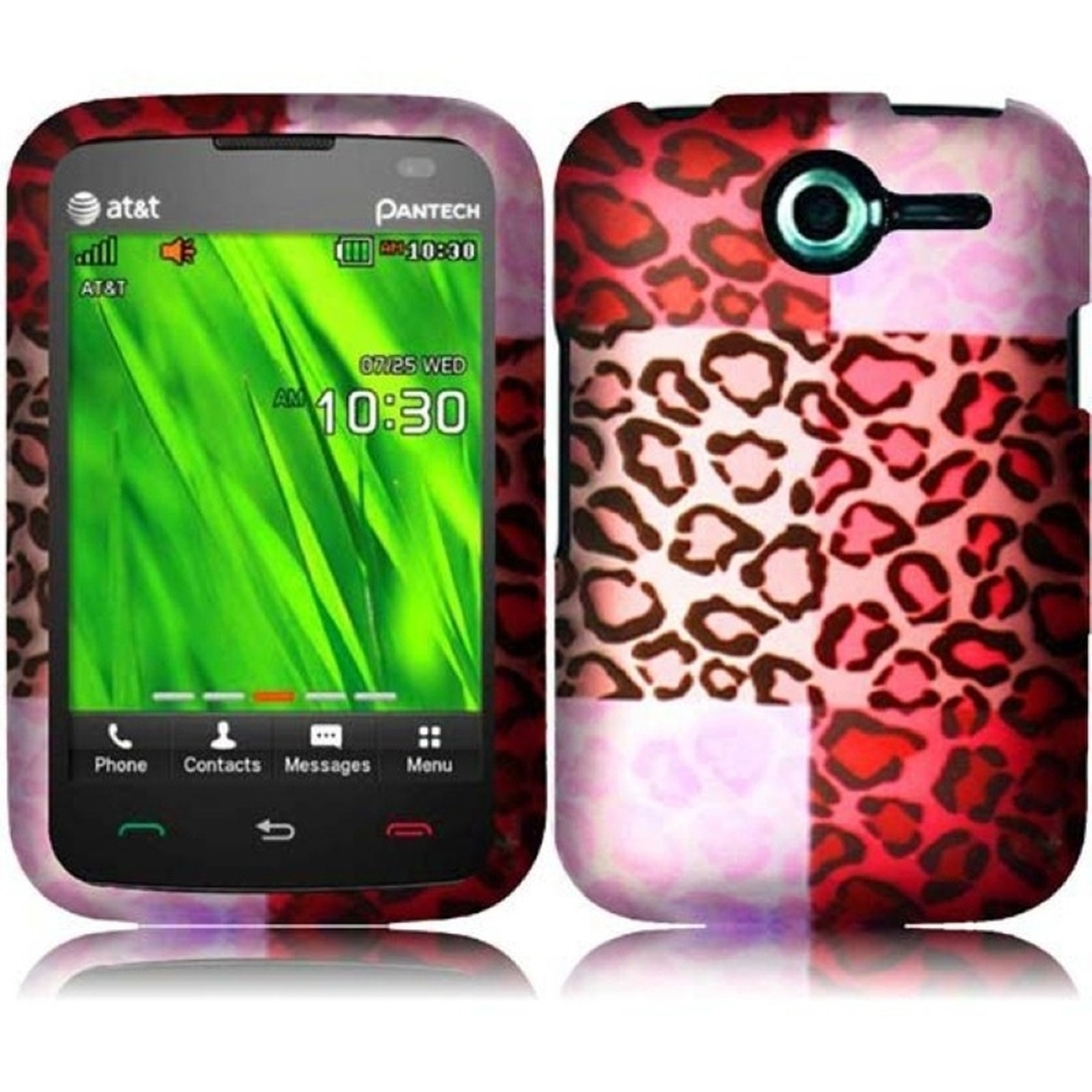 Insten For Pantech Renue P6030(AT&T) Rubberized Design Phone Hard Case Exotic Cheetah