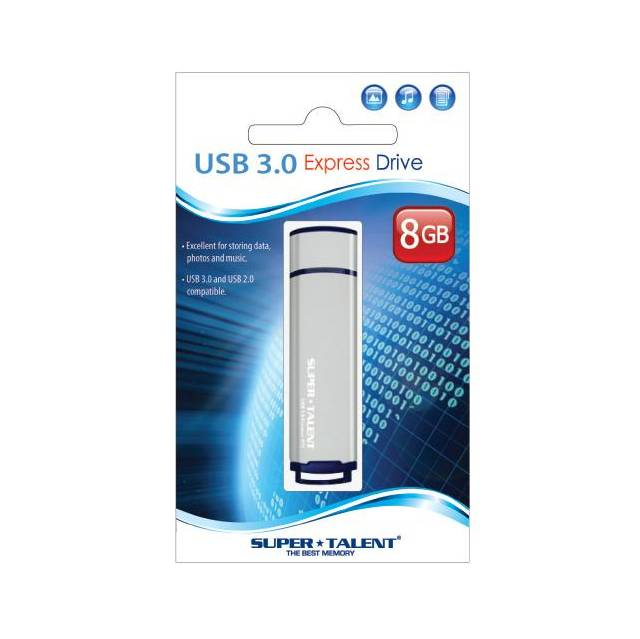 Super Talent 8GB Express ST2 USB 3.0 Flash Drive (MLC)