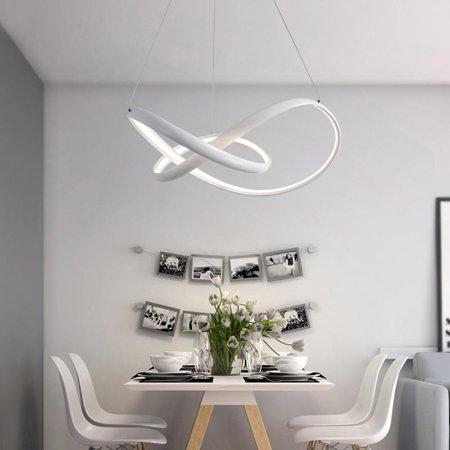 Modern Nature White LED Pendant Light Chandelier Ceiling Lighting Fixture for Living Kitchen Kids Bedrooms Dining