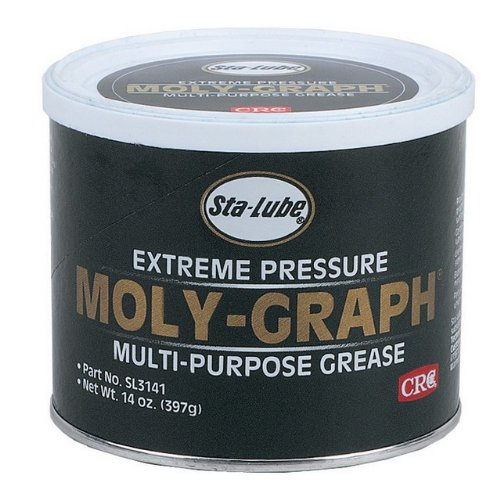 CRC SL3141 Moly-Graph Extreme Pressure Multi-Purpose Lithium Grease, 14 Wt Oz