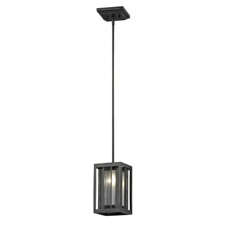 Pendants 1 Light With Bronze Finish Iron Material Medium Base Bulb 6 inch 100 Watts
