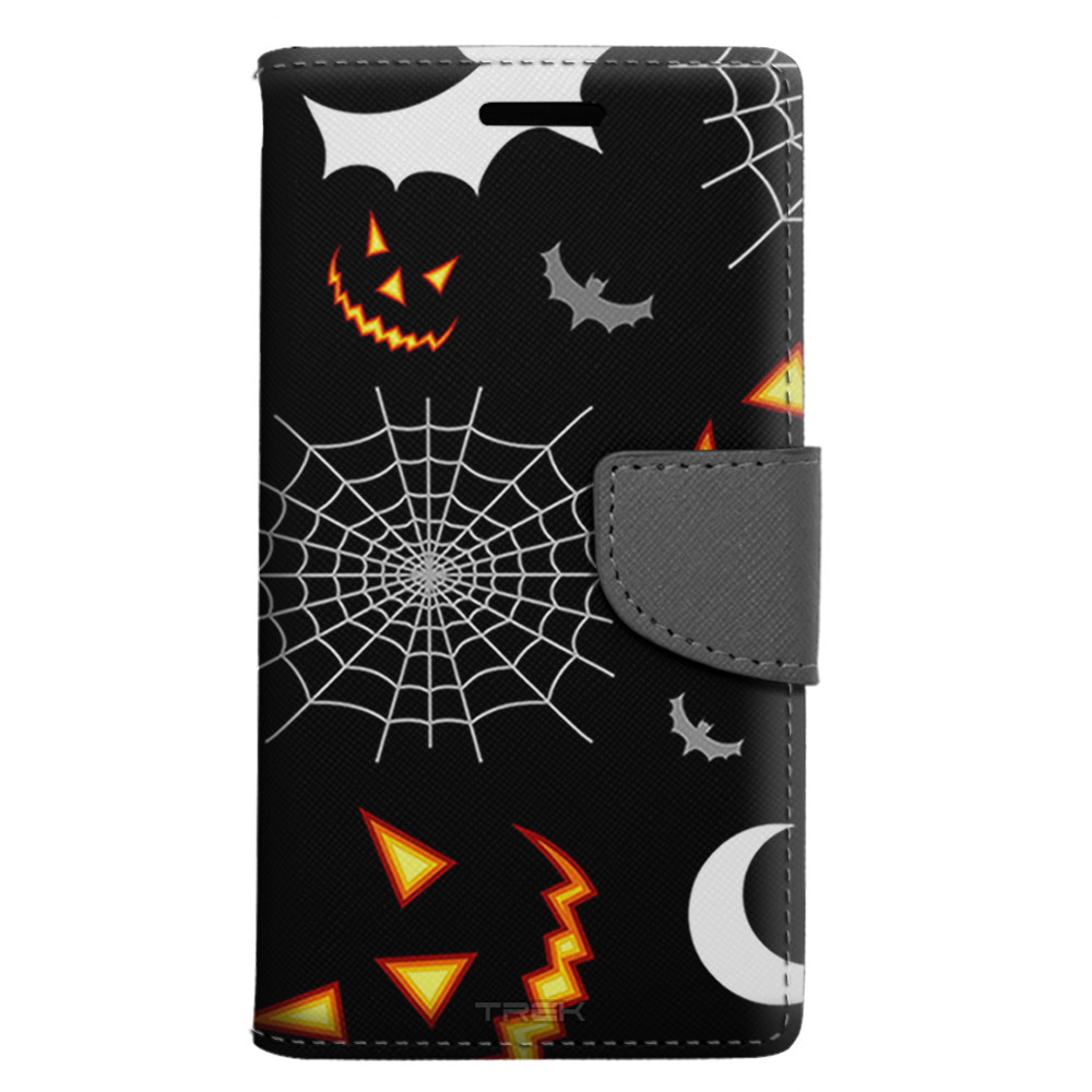 LG Harmony Wallet Case - Bats Moons and Spiders Pattern Case