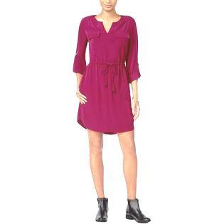 Maison Jules Cherry Plum Long-Sleeve Dress Size XS (Plumb Dress)
