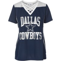 61f2e9b4 Product Image Women's Navy/Silver Dallas Cowboys Kalina V-Neck T-Shirt