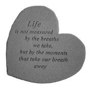 Kay Berry 08603 Great Thought Hearts- Life is not measured...