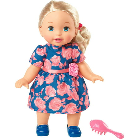 Little Mommy Sweet As Me Rose Dress Doll with Hairbrush - Me Doll