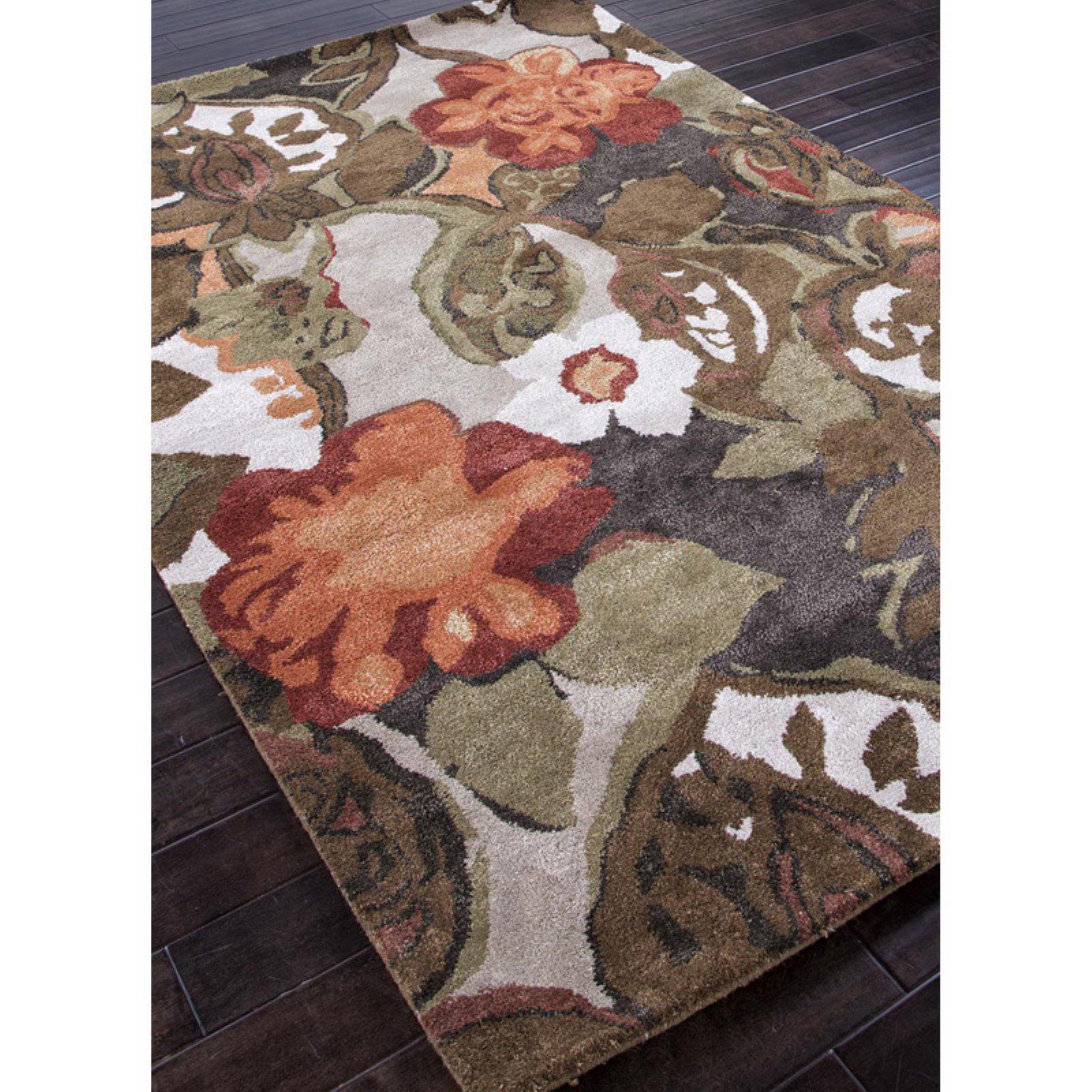 Jaipur Petal Pusher Transitional Floral Pattern Wool/Silk Tufted Rug