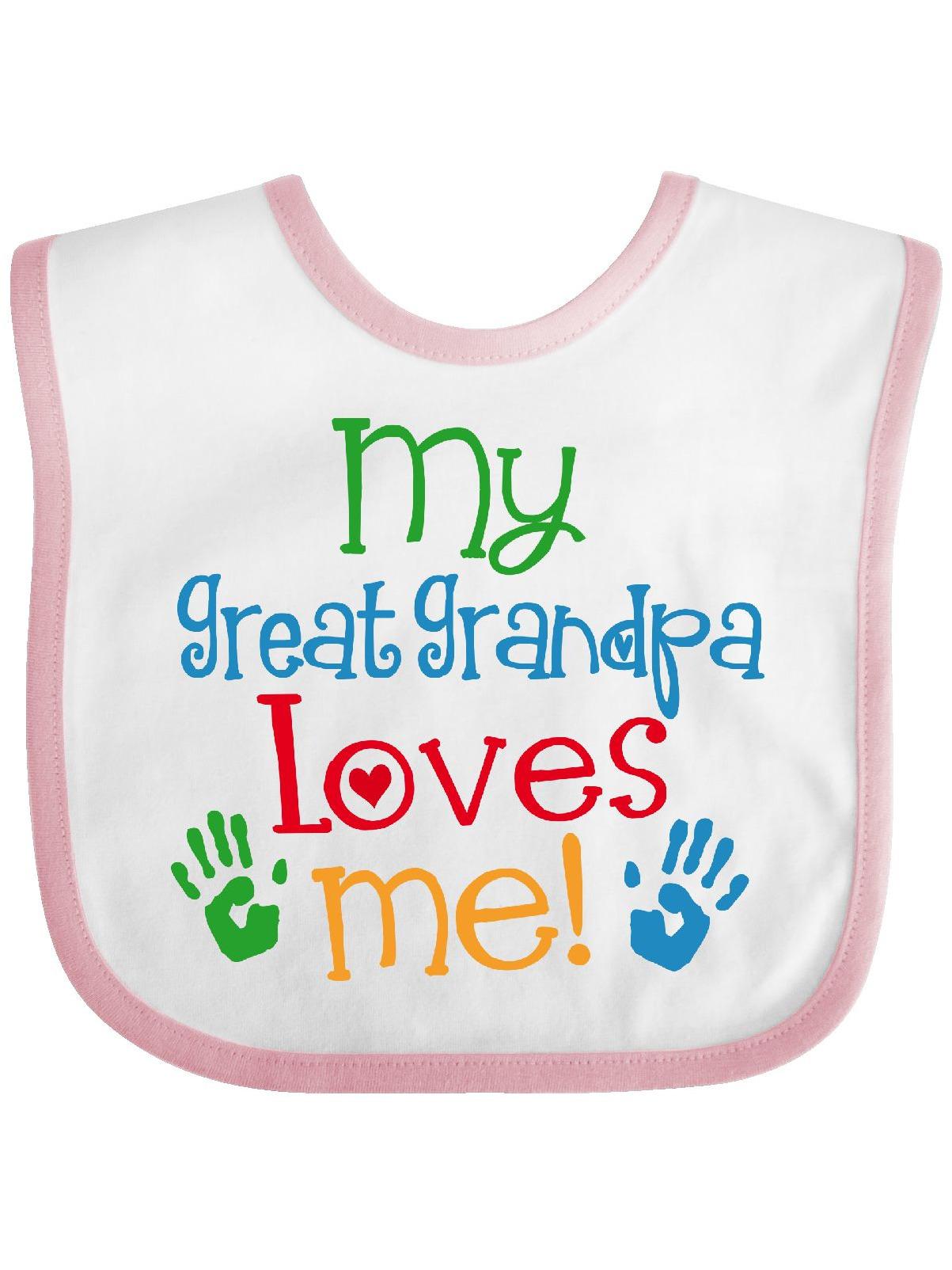 My Great Grandpa Loves Me Baby Bib