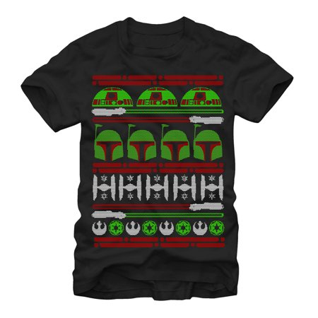 Star Wars Men's Boba Fett Ugly Christmas Sweater T-Shirt](Star Wars Sweaters)