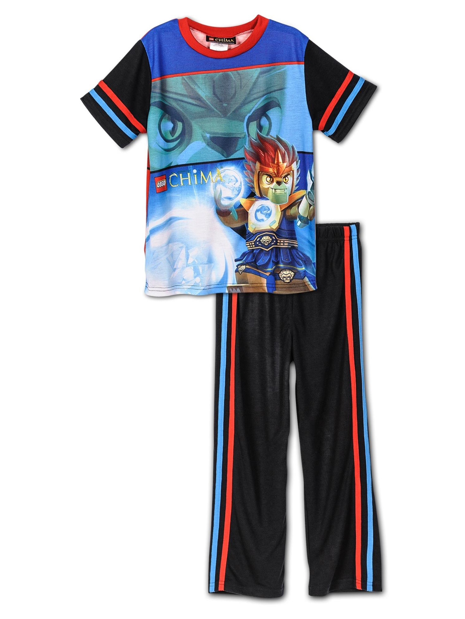 Lego Chima Boys Laval Blue Pajamas S4PBA128LC, Black, Size: 10