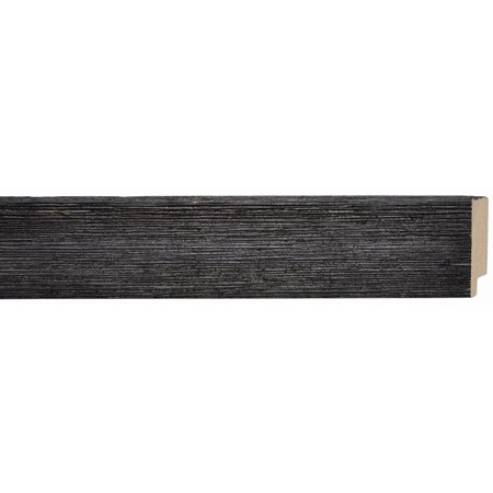 Picture Frame Moulding (Wood) - Distressed/Aged Black Finish - 2