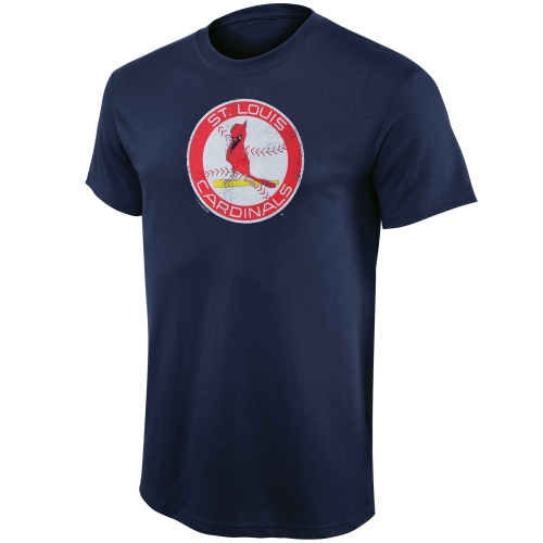St. Louis Cardinals Youth Cooperstown T-Shirt - Navy Blue
