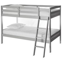 Dream On Me Taylor Twin over Twin Bunk Bed, Grey