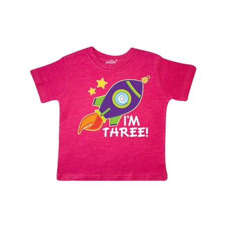 1a9d2d57c Inktastic - 3rd Birthday Space Rocket Boys Toddler T-Shirt - Walmart.com