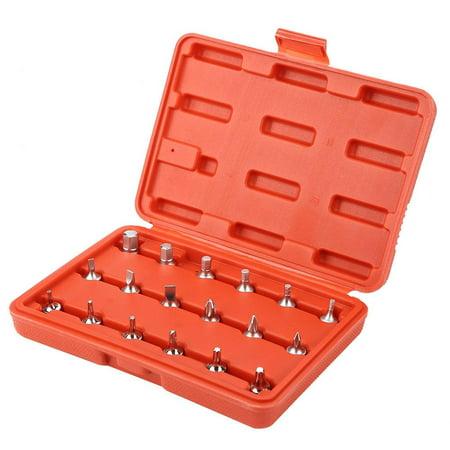 HERCHR Steel Screwdriver Bits, 18pcs 1/4  Chrome Vanadium Steel Screwdriver Bits Socket Screwdriver Set Head, Screwdriver Set (Best Component Driver Head)