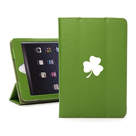 - For Apple iPad Mini 4 Green Leather Magnetic Smart Case Cover Stand 3 Leaf Clover Shamrock