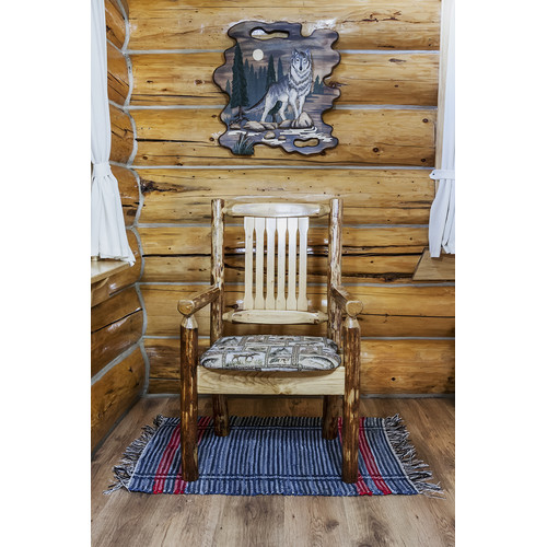 Montana Woodworks Glacier Country Captain's Arm Chair