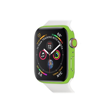 Skin For Apple Watch Series 4 44mm - Solid Lime Green   MightySkins Protective, Durable, and Unique Vinyl Decal wrap cover   Easy To Apply, Remove, and Change Styles